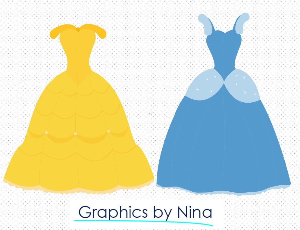 996x762 Instant Dowload Wizard Of Oz Snow White Princess Dresses Clipart