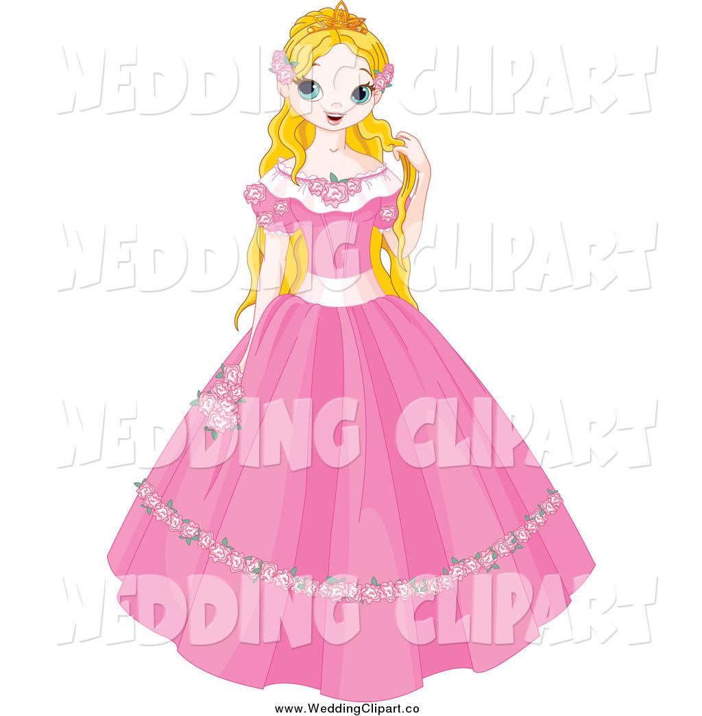 1024x1044 Vector Cartoon Marriage Clipart Of A Blond Fairy Tale Princess