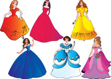 425x303 Vector Princess Dress Free Free Vector Download (533 Free Vector