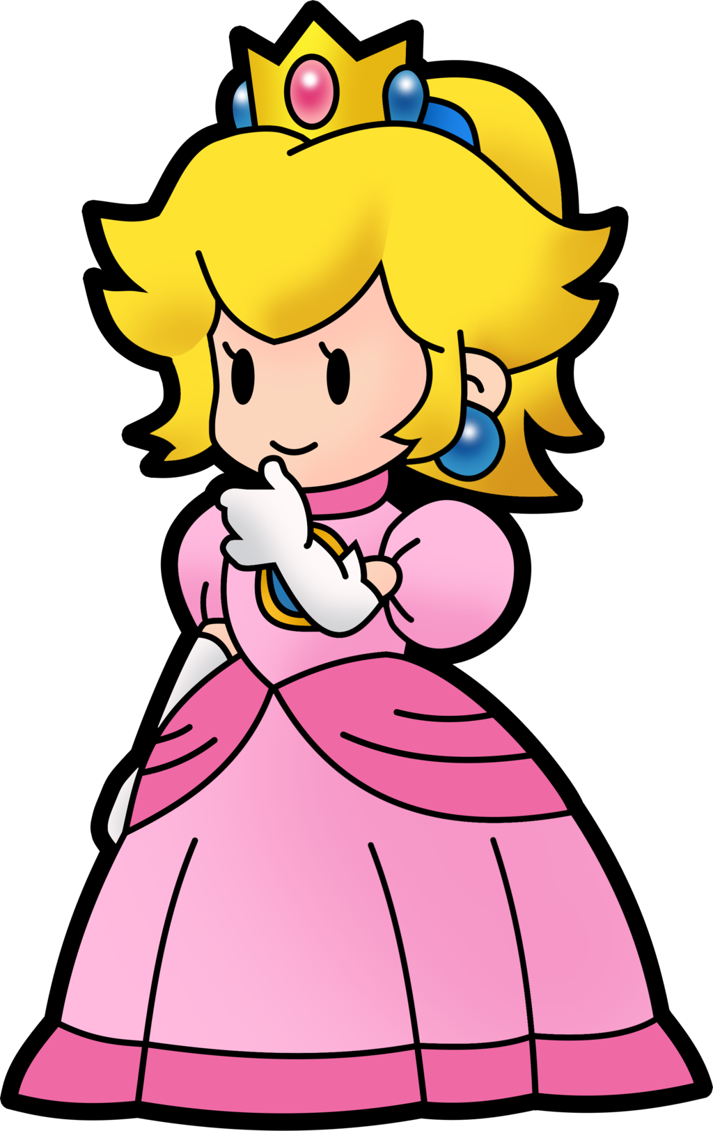 1024x1624 Paper Princess Peach By Fawfulthegreat64