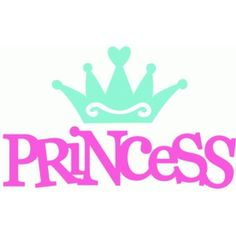 236x236 Cute Princess Crown Car Decal Pink Girly Clipart