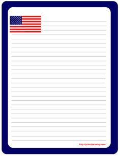 236x305 American Flag Printable Lined Writing Paper Writing Paper