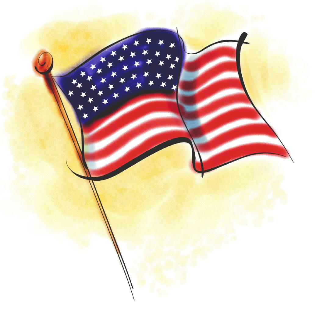 1050x1050 Clipart American Flag