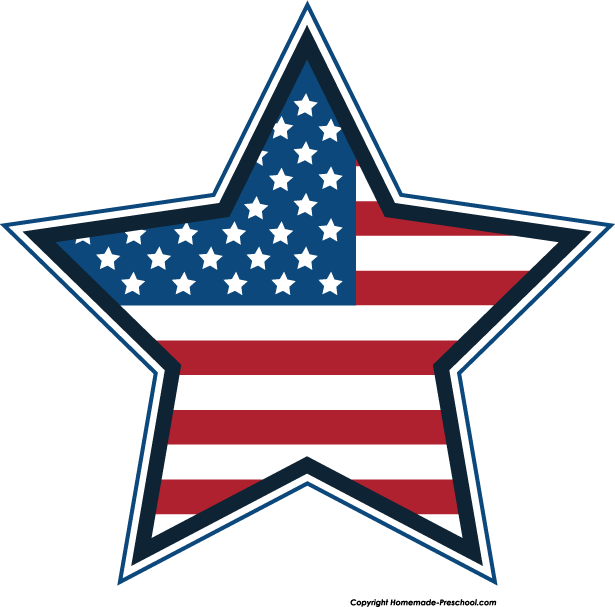 615x607 Free American Flags Clipart