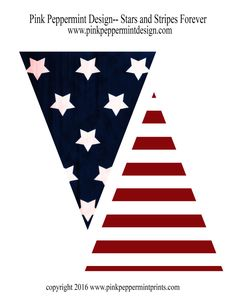 236x305 Free Printable American Flag Bunting