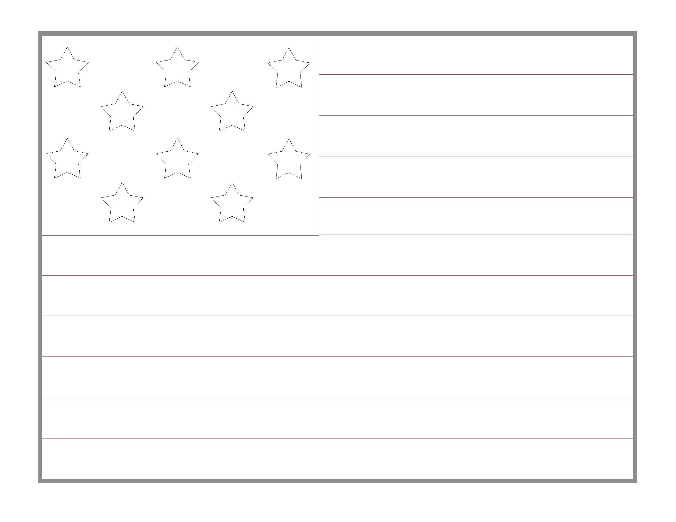 2200x1700 Printable Blank American Flag Printable Diagram