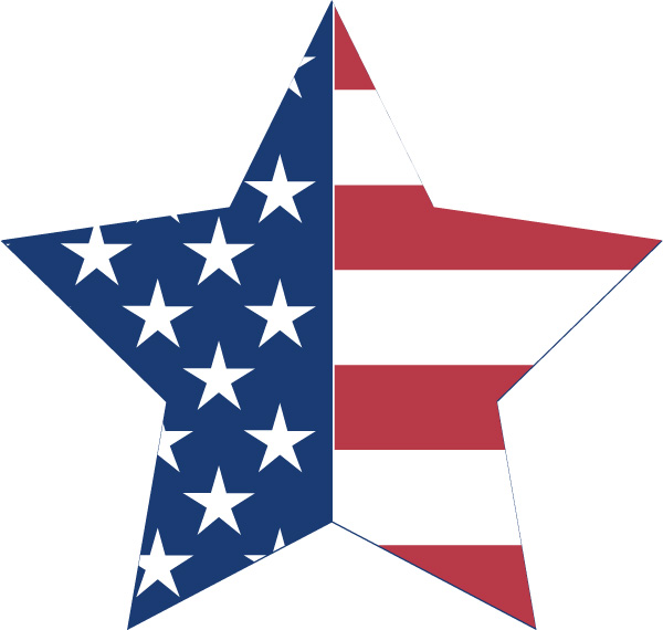 600x570 Us Star Flag Bunting Decoration