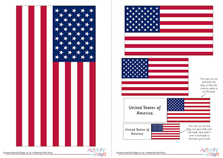 460x326 United States Flag Printables For Kids