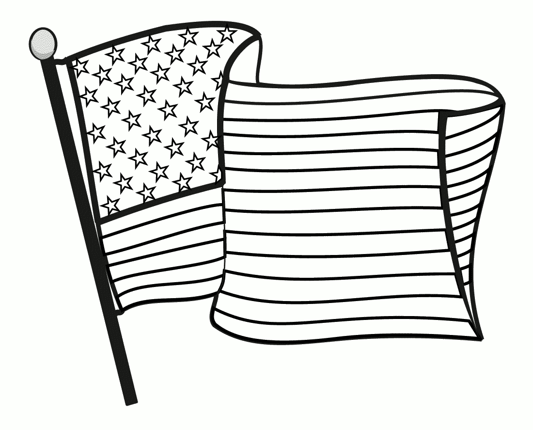 1100x887 Usa American Flag Coloring Pages Printable