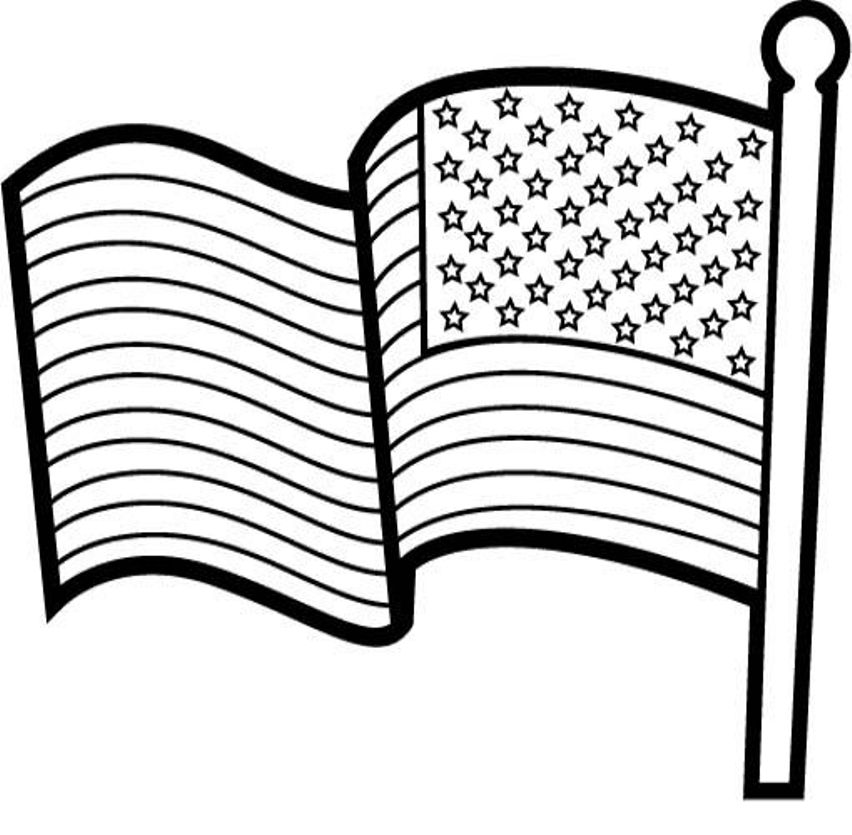852x835 American Flag Coloring Pages