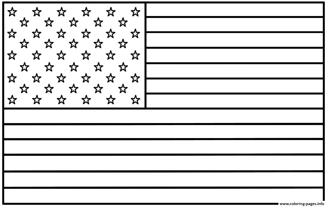1330x841 American Flag Coloring Pages Printable