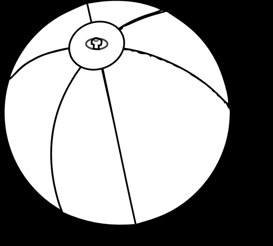 949x855 Beachball Black And White Beach Ball Clipart Free To Use Clip Art
