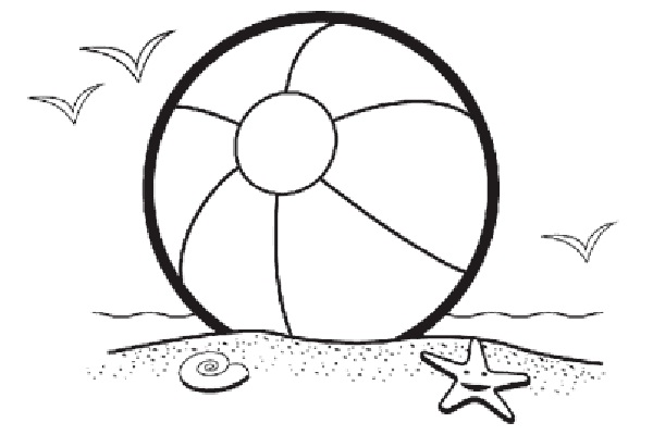 600x400 Beach Ball Coloring Pages Printable Online Beach Ball Coloring