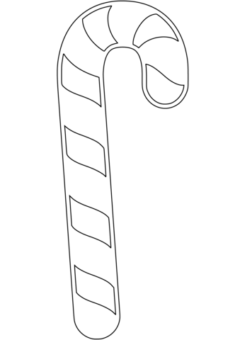 339x480 Candy Cane Coloring Page Free Printable Coloring Pages