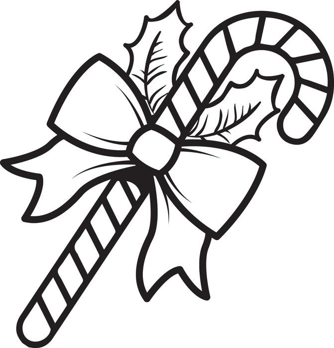 671x700 Free Printable Candy Cane Coloring Page For Kids