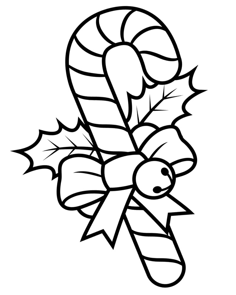 800x1002 Fresh Candy Cane Coloring Page 85 In Seasonal Colouring Pages