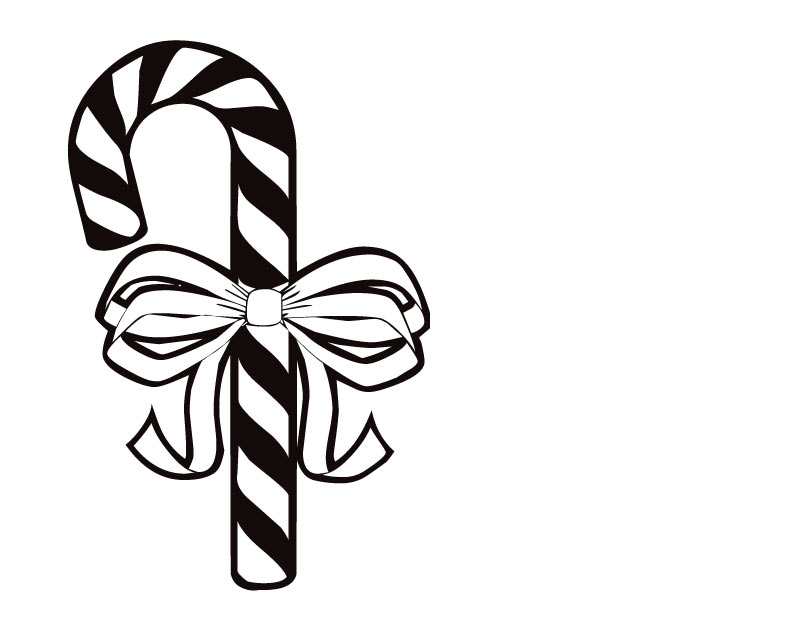 810x630 Printable Candy Cane Coloring Pages 355072