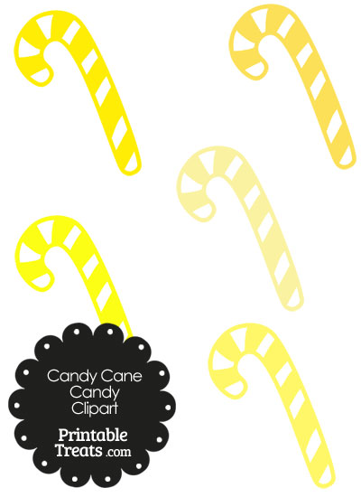 400x550 Yellow And White Candy Cane Clipart Printable
