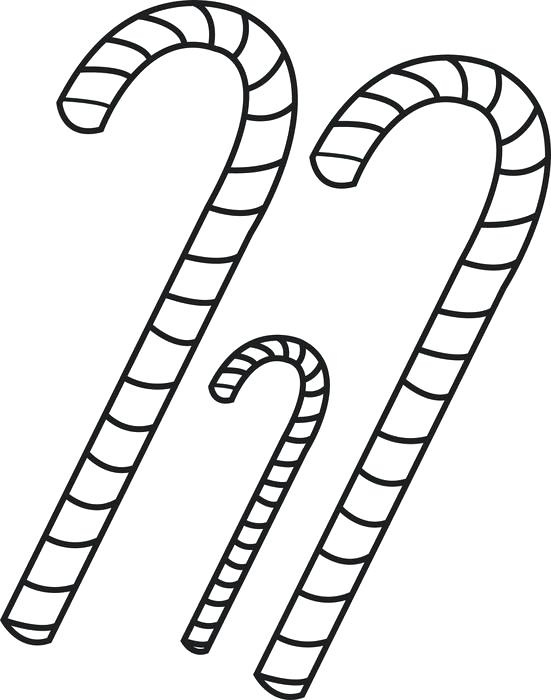 551x700 Candy Cane Coloring Page