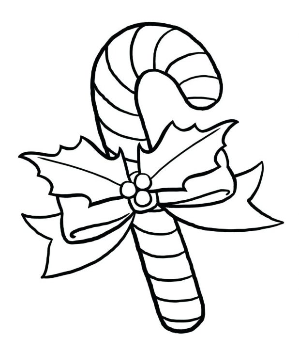 618x728 Candy Cane Coloring Pages Throughout Canes To Motivate Color