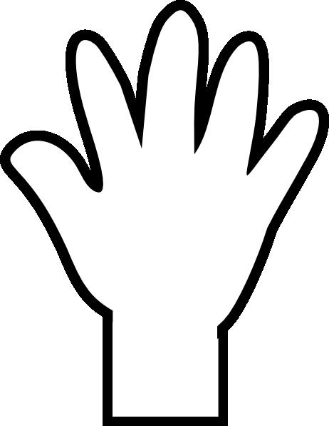 462x597 White Hand Print Clip Art