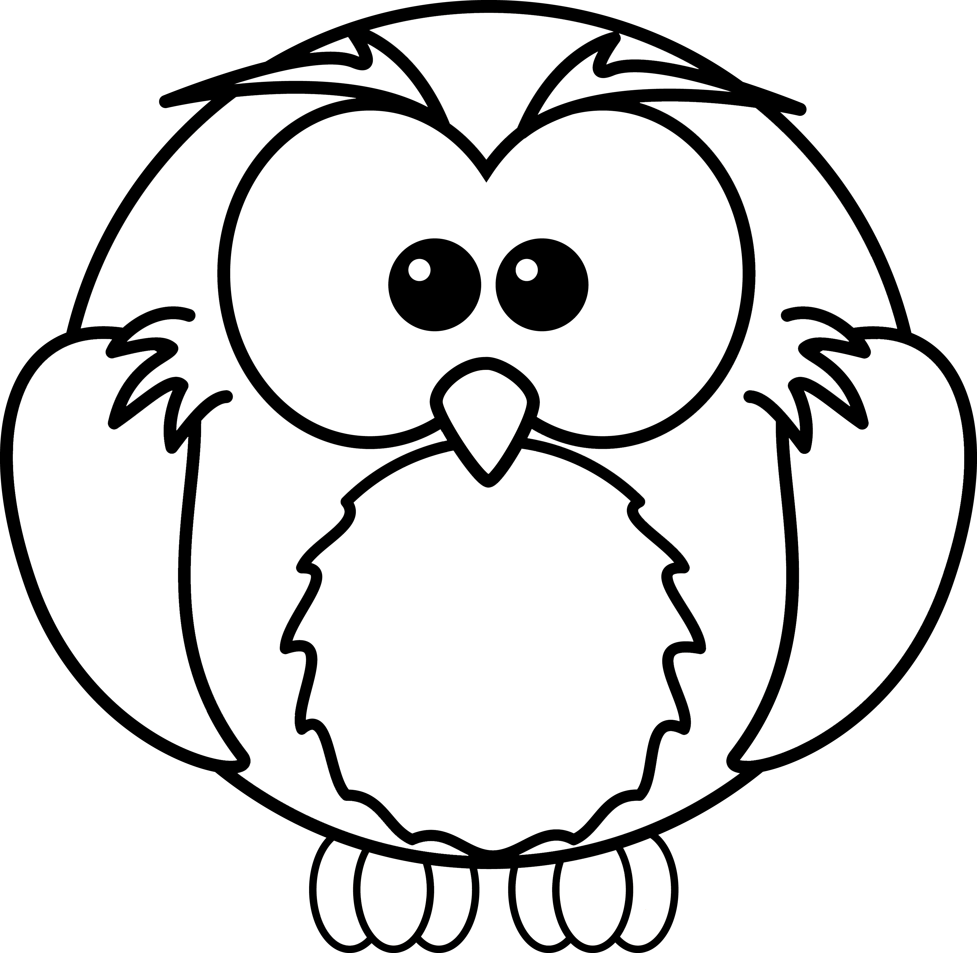 3281x3200 Free Printable Owl Coloring Pages For Kids