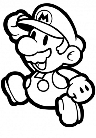 334x480 Paper Mario Coloring Page Free Printable Coloring Pages