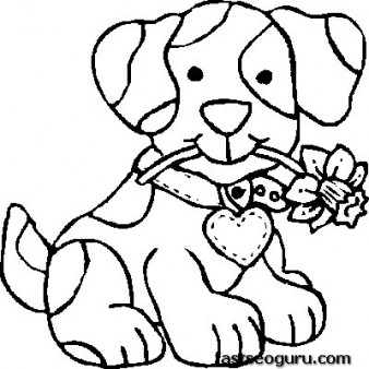 338x338 Print Out Dog Coloring Pages For Kids