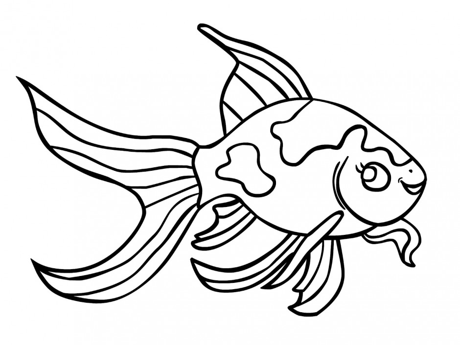 940x705 Printable Fish Coloring Pages Me