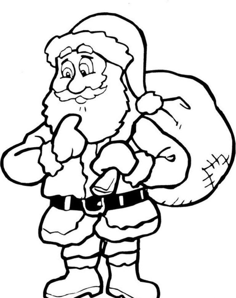 768x969 Christmas Coloring Pages Printable Santa Claus Christmas