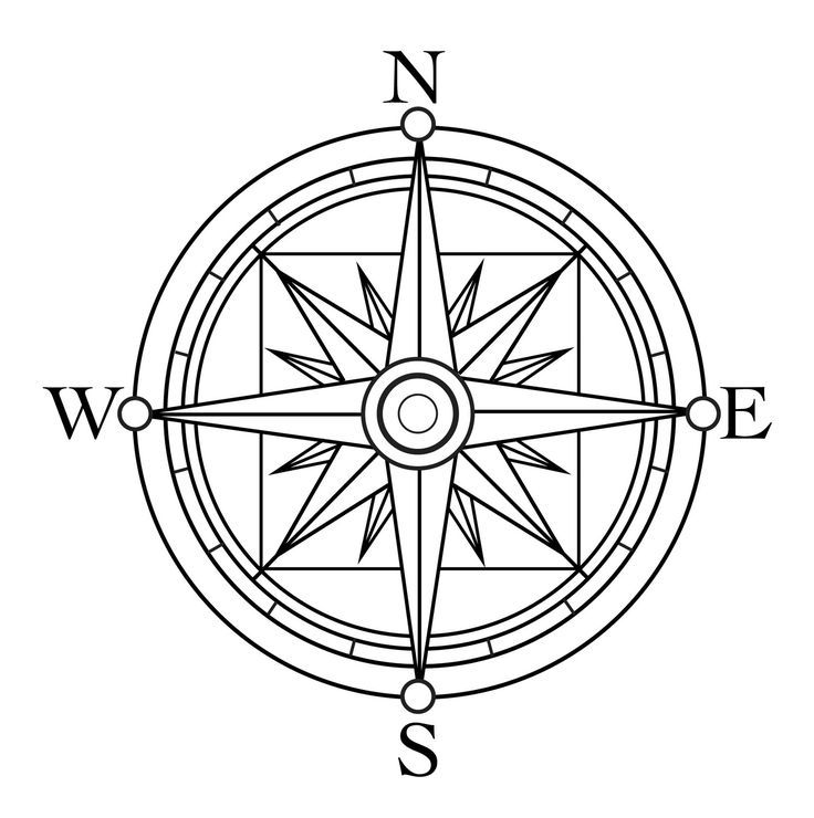 Critical image in picture of a compass rose printable