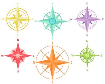 340x270 Compass Clip Art Etsy