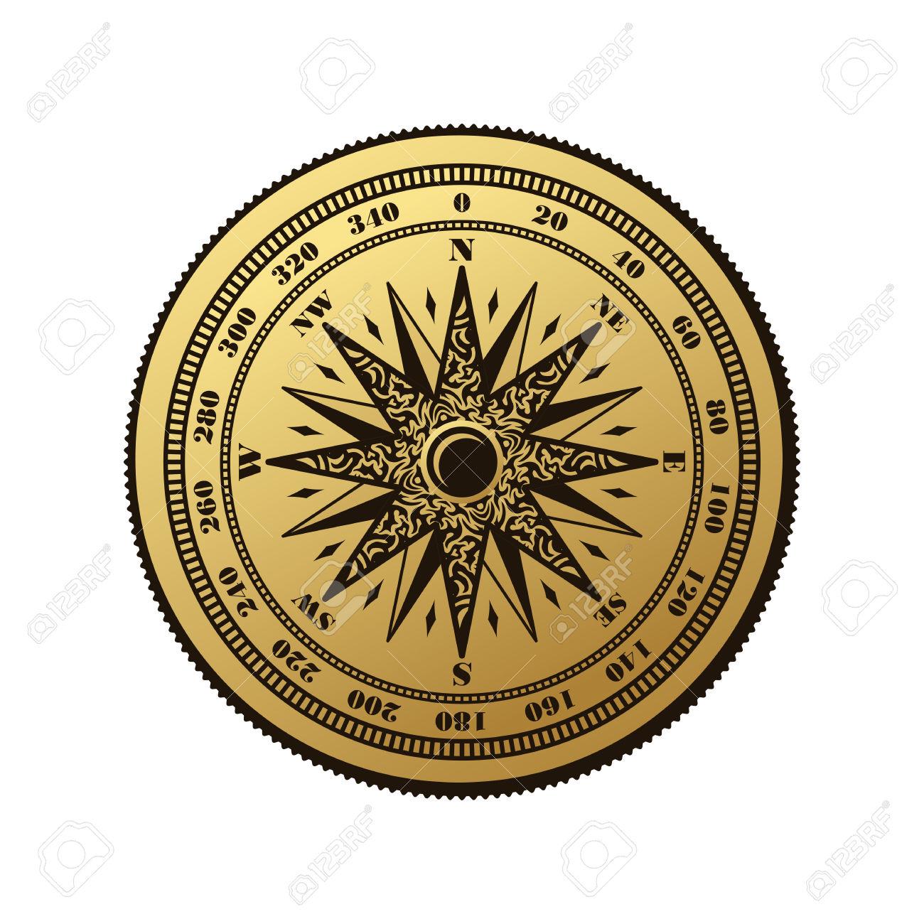 1300x1300 Compass Clipart Marine