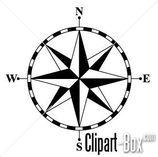 325x324 Rose Compass Art Clip