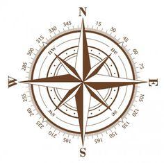 236x235 Vintage Compass Rose