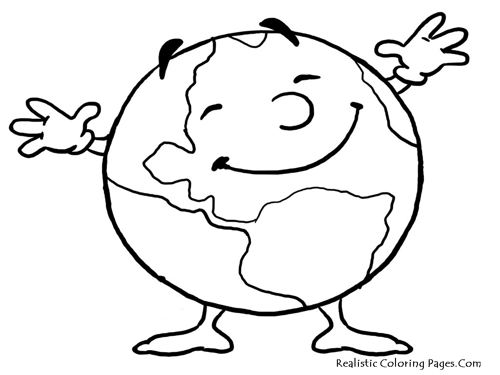 1024x768 Earth Coloring Pages Printable Clipart Panda