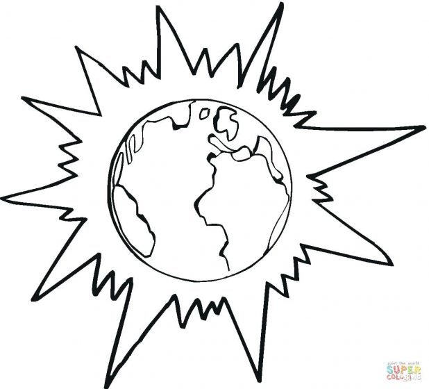 618x560 Pages Printable World Map Coloring Page Earth And 35 Interesting