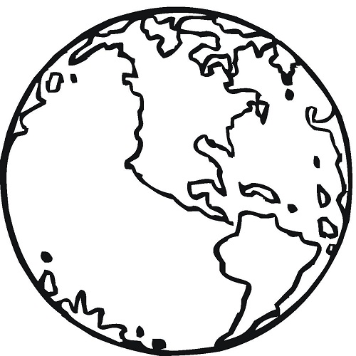 500x500 Printable Earth Coloring Pages Coloring Me