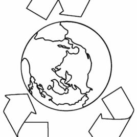 268x268 Printable Earth Coloring Pages For Kids Cool2bkids Take Care