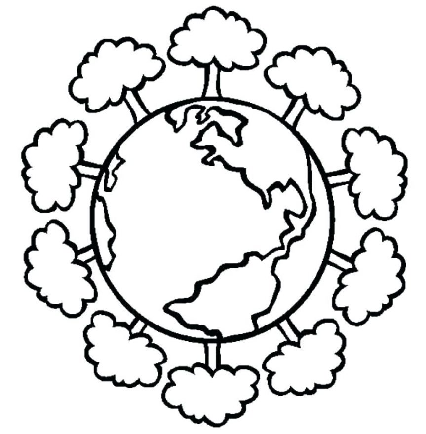 863x880 World Earth Day Printable Coloring Pages For Preschool First Color
