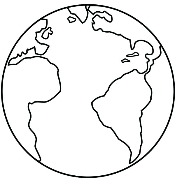 600x611 Earth Coloring Page