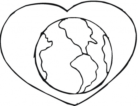452x350 Earth Love Printable Coloring Pages For Kids