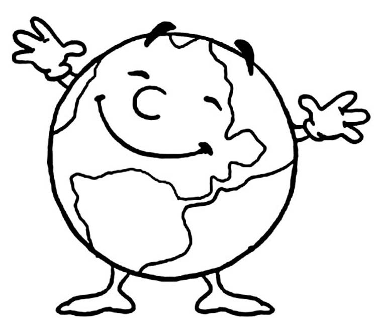 750x656 Free World Earth Day Printable Coloring Pages For Preschool