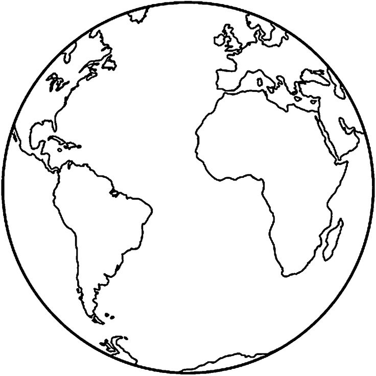 Printable earth coloring pages free download best for Earth coloring page pdf