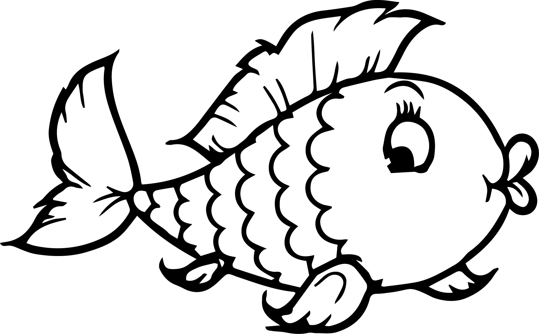 Gorgeous image for fish coloring pages printable