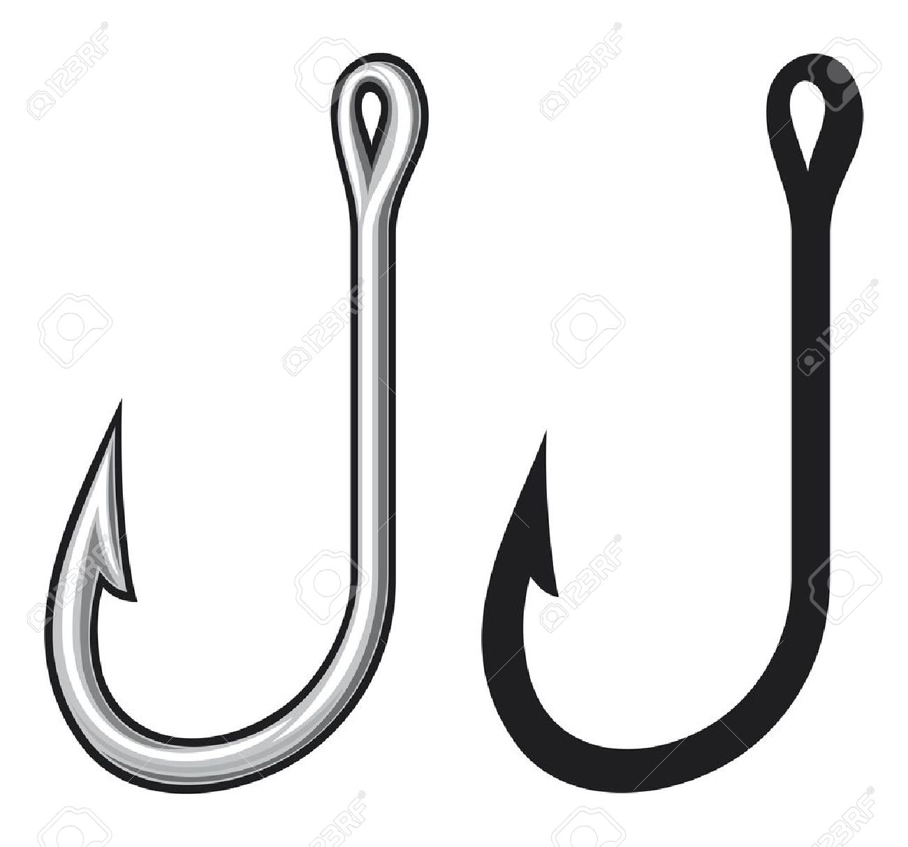 It's just a picture of Soft Fishing Hook Drawing