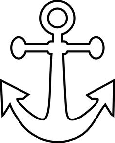 236x292 Anchor Pattern. Use The Printable Outline For Crafts, Creating