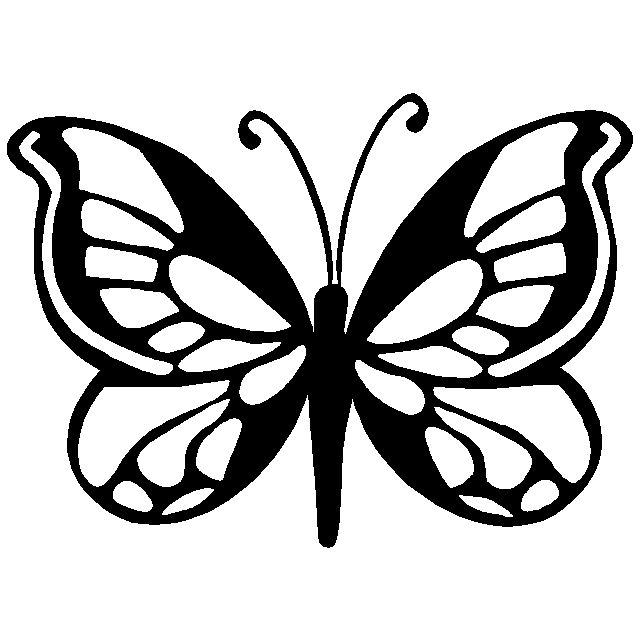 640x640 Butterfly Stencils Monarch Butterfly Stencil Stencils