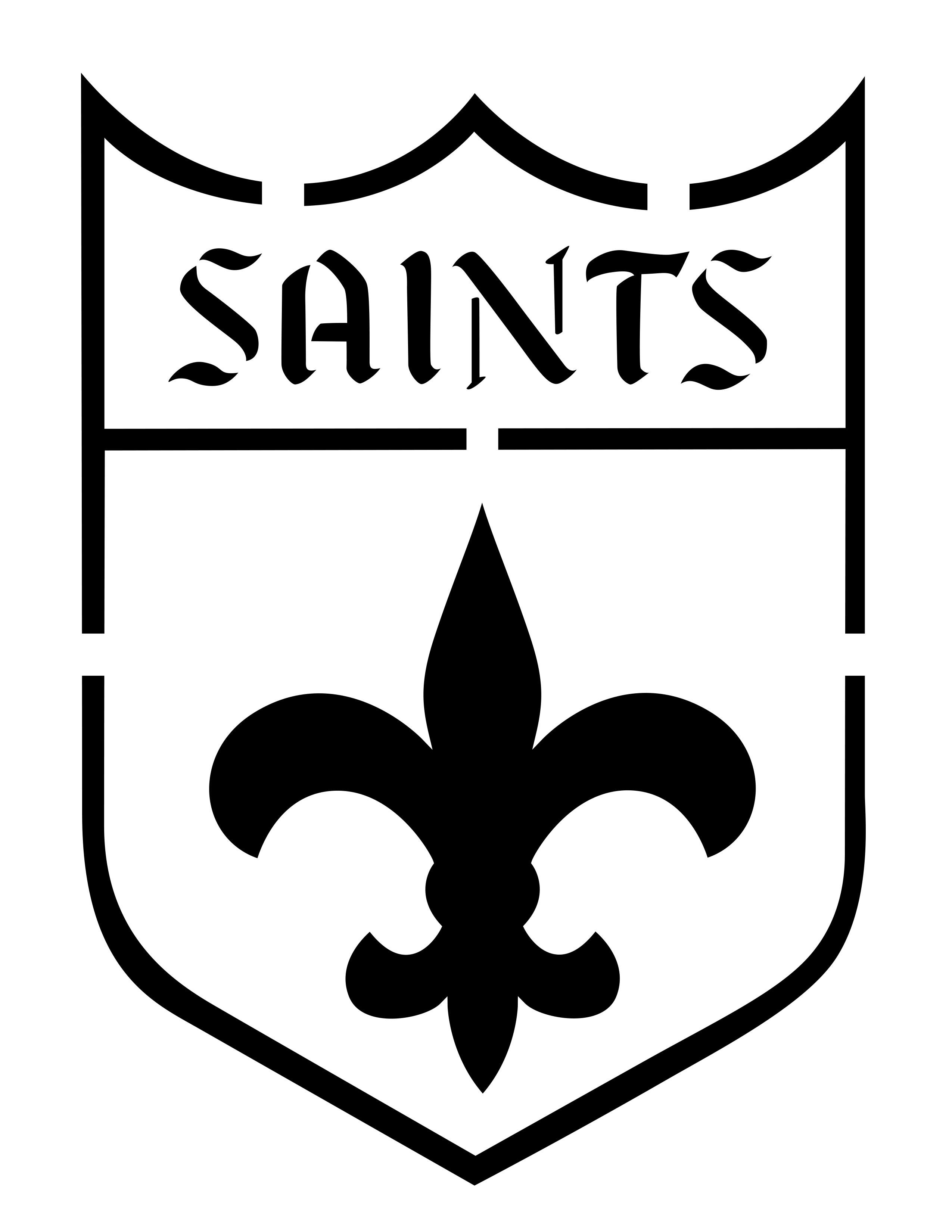 2550x3300 New Orleans Saints Clipart