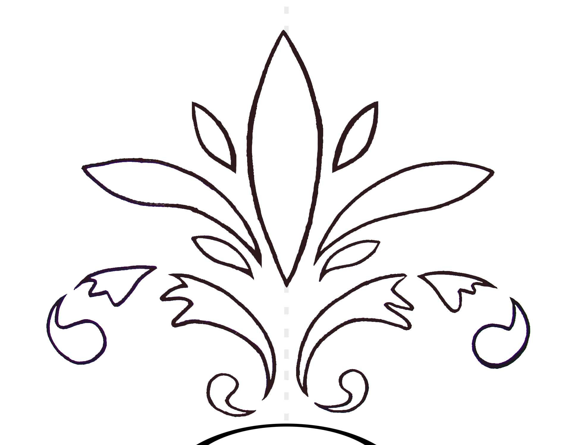 photograph about Free Moroccan Stencils Printable known as Printable Fleur De Lis Stencil Clipart Absolutely free down load easiest